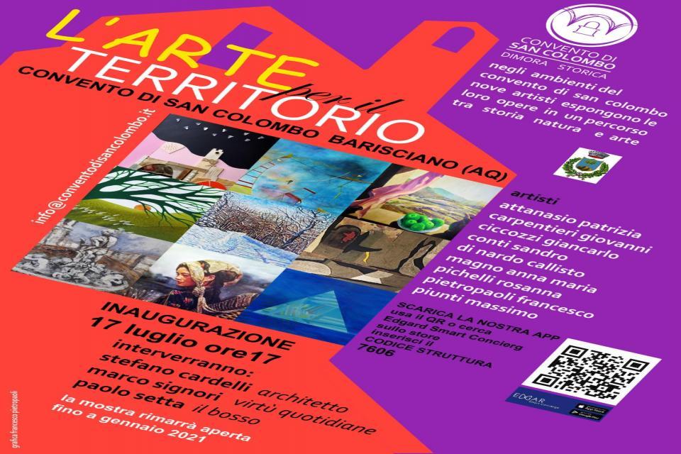 Collettiva d'arte al Convento di San Colombo. Inaugurazione venerdì 17 Luglio 2020.